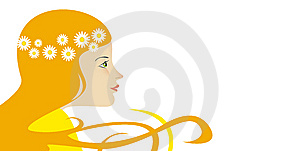 Woman With Flowers Stock Image - Image: 13599411