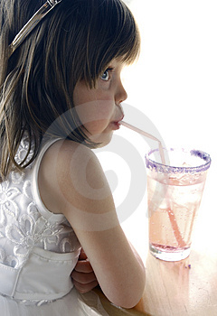 Girl With Soda Stock Images - Image: 1361804