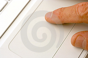 Laptop Touchpad Royalty Free Stock Images - Image: 1362829