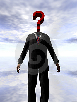 Question Mark Head 3 Stock Photo