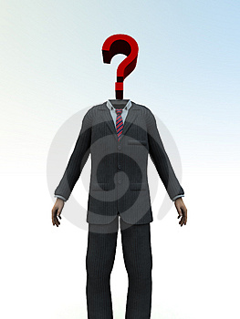 Question Mark Head 2 Stock Images