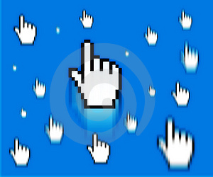 Finger Cursor Royalty Free Stock Photo - Image: 1365785