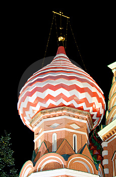 St.Basil Cathedral At Night 4 Stock Images - Image: 1366314
