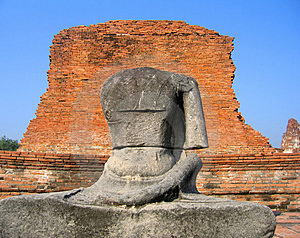 Statue At The Ancient Capital Of Thailand Royalty Free Stock Photo - Image: 1366635