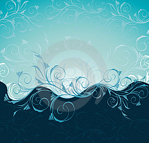 Floral Wave Royalty Free Stock Photos - Image: 13600028