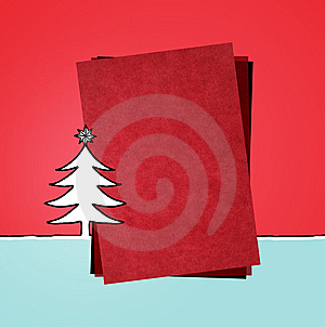 Red Paper & Xmas Stock Photography - Image: 13600732