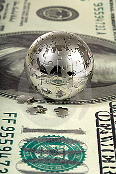 Dollar And Globe. Stock Images - Image: 13601954