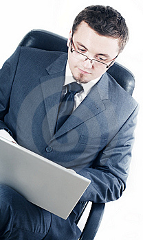 Business Man With Laptop Stock Images - Image: 13602234