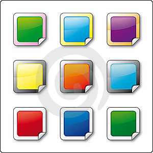 Buttons With Folded Frame Stock Photo - Image: 13602760