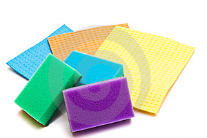 Colored Sponges For Washing Dishes And Clothes Stock Photo - Image: 13603090