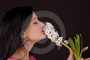 The Smell Of Spring. Stock Image - Image: 13603611