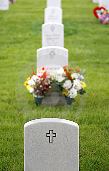 Headstones In Military Cemetery Royalty Free Stock Photography - Image: 13604097