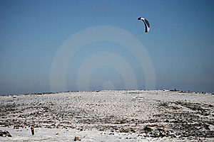 Kite Skiier Stock Photos - Image: 13604203