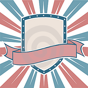 Old Colors American Shield Royalty Free Stock Images - Image: 13605369