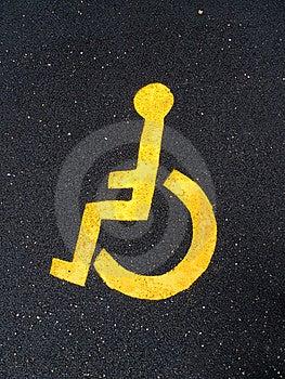 Disable Man Logo Royalty Free Stock Photos - Image: 13605628