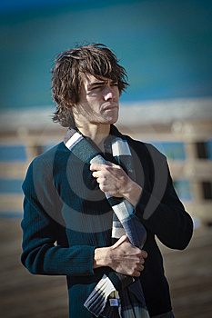 Male Model In Lifestyle Situations In Urban Area Royalty Free Stock Photos - Image: 13608488