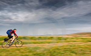 Biker In Motion Stock Photo - Image: 13608870