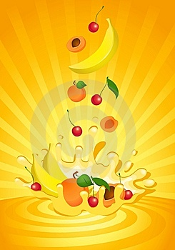 Tasty Fruit In Yoghurt Stock Images - Image: 13609294