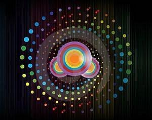Colorful Digital  Wave Stock Images - Image: 13614844