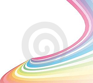 Colorful Creative  Rainbow Wave Royalty Free Stock Images - Image: 13614849