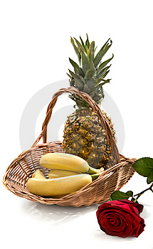 Still-life With Basket With Fruits Stock Images - Image: 13615414