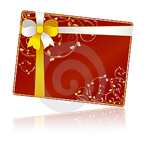 Gift Card With Floral Decorations Stock Photos - Image: 13615723
