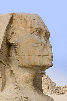 The Stone Face Of The Sphinx Stock Photography - Image: 13617412