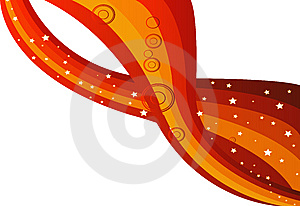Red Curve And Star Royalty Free Stock Image - Image: 13619756