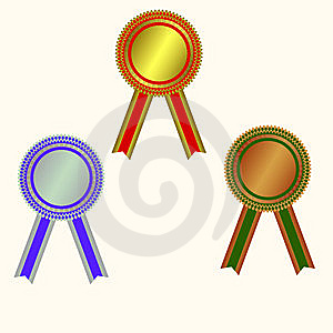 West Medals: Champion Medals Royalty Free Stock Photography - Image: 13622037