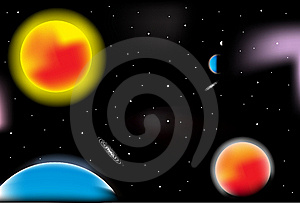Outer Space Vector Stock Images - Image: 13623144
