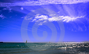 Windsurfing At The Atlantic Ocean Stock Images - Image: 13623484