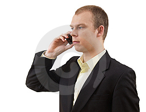 Businessman With Cellphone Royalty Free Stock Photography - Image: 13624537