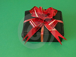 Gift Box With Red Ribbon Stock Photos - Image: 13625583