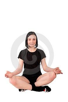Muchacha Meditating Imagen de archivo - Imagen: 13627491