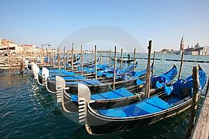 Gondolas In Venice Stock Photography - Image: 13627502