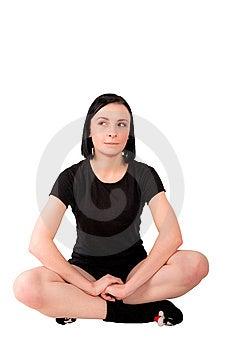 Bitting девушка ее детеныши губы Стоковые Фотографии RF - изображение: 13627508