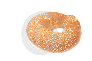 Freshly Baked Bagel Royalty Free Stock Images - Image: 13627759