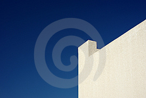 Yellow Wall And Clear Blue Sky Royalty Free Stock Images - Image: 13628589