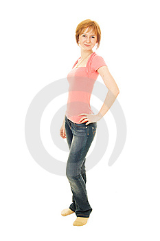 Red-haired Caucasian Woman Royalty Free Stock Photography - Image: 13629937