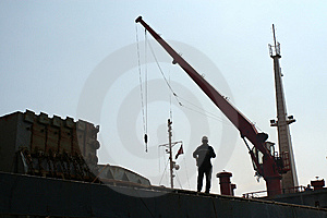 Shoadow View Of Costruction Of A Ship Deck Royalty Free Stock Photos - Image: 13630438