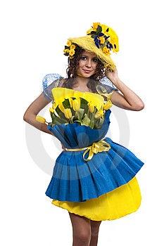 Платье из гофрированной бумаги своими руками фото