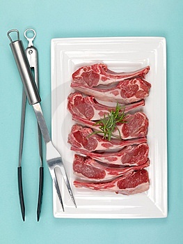 Lamb Chops Royalty Free Stock Photos - Image: 13634888