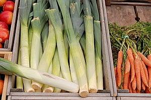 Biological vegetables on the Market Stock Image