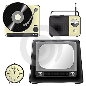 Retro Object Icons - Set Stock Photos - Image: 13638433