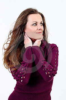Fashion Woman With Pullover Stock Images - Image: 13638984