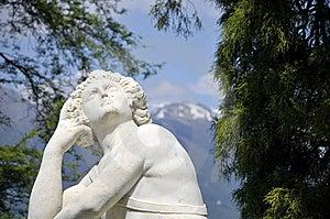Statue In Gardens, Villa Melzi, Lake Como Stock Image - Image: 13640231