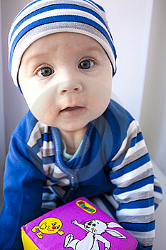 The Baby Of 6-7 Months Royalty Free Stock Image - Image: 13642336