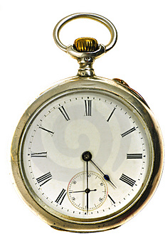 Old Style Silver Pocket Watch Stock Photo - Image: 13644150