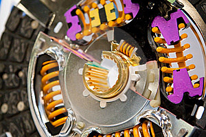 Metall Disk Of Car Clutch With Color Details Stock Images - Image: 13644214