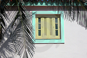 Tropical Colonial Window Royalty Free Stock Image - Image: 13644596